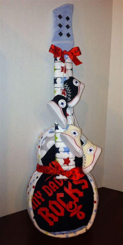 diaper cake guitar gift ideas pinterest babies