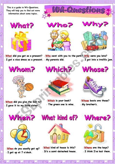 grammar guide  wh questions  sentences