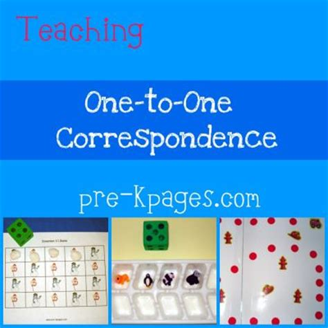 pre k math one to one correspondence