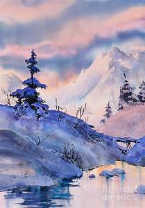148 Best Watercolor Winter Images On Pinterest Water