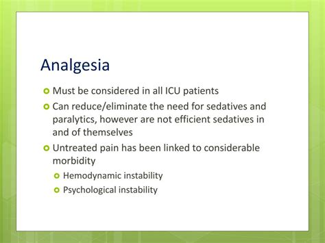 analgesia picu sedation ppt powerpoint presentation