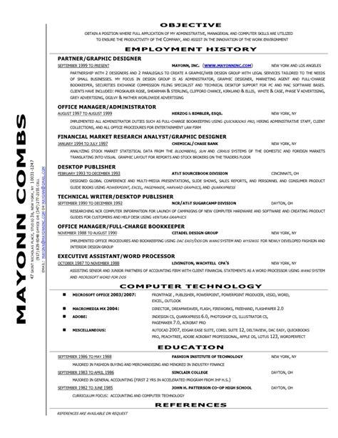mayonns resume