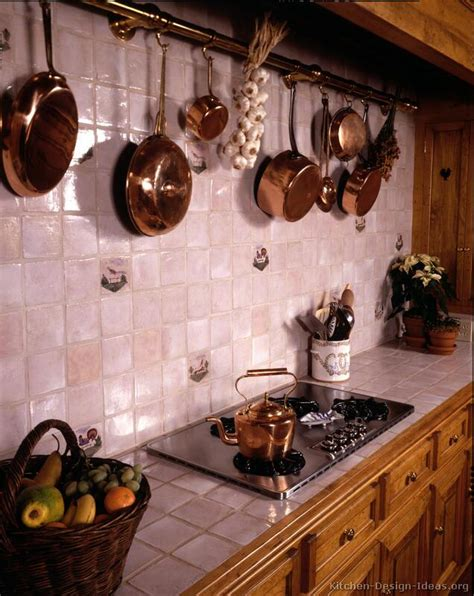 Country Tiled Kitchen Countertops