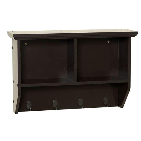 cubby shelf with hooks zenith collette 23 in w wall cubby shelf in espresso