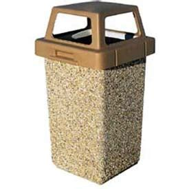 wausau tile trash can garbage can recycling concrete waste