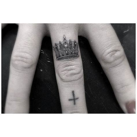 ideas  crown finger tattoo  pinterest