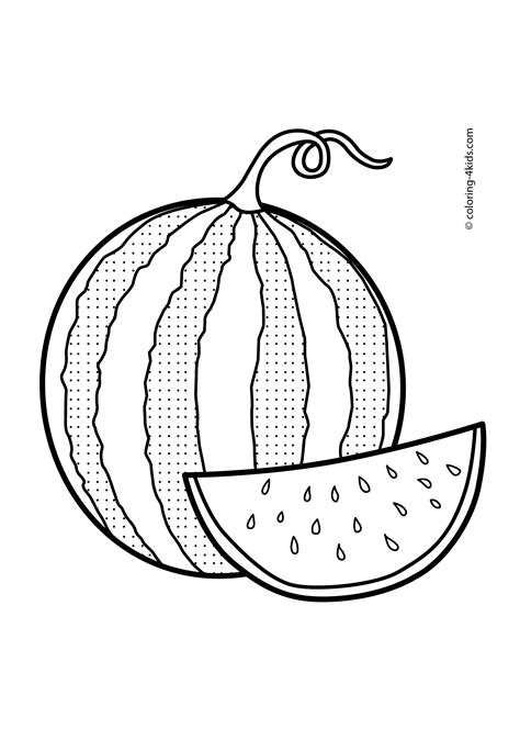 watermelon clipart  drawing pencil   color
