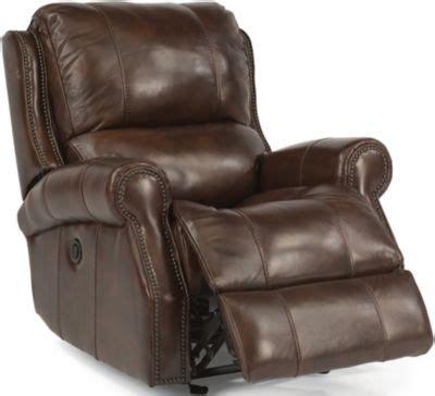 flexsteel miles leather power glider recliner homemakers