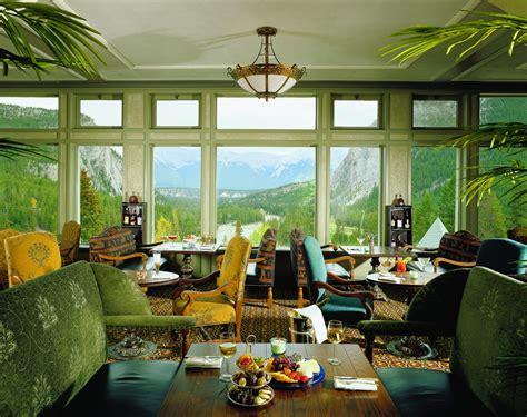 fairmont banff springs mountainside luxury  canada