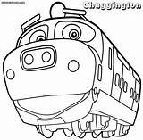 Chuggington Coloring Cartoon sketch template