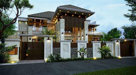 desain rumah  lantai berpilar style bali jasa arsitek