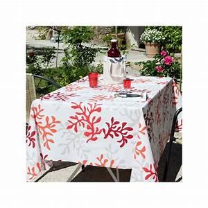 Nappe Ovale Enduite : nappe enduite rouge toutes les nappes fleur de soleil sont chez pure deco ~ Teatrodelosmanantiales.com Idées de Décoration