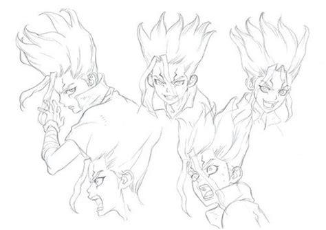 dr stone neue charakter skizzen zur anime adaption