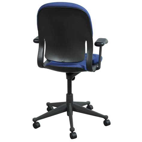 herman miller equa high back used conference chair blue
