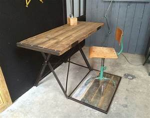 Bureau Bois Et Metal : ancien bureau bois et m tal ~ Teatrodelosmanantiales.com Idées de Décoration