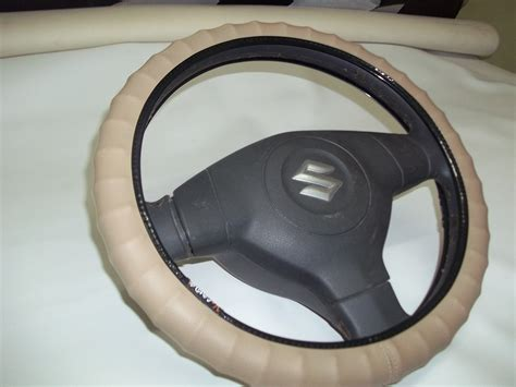 Online V-grip Steering Cover-ring Type Sporty Grip-baige
