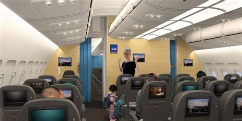 ultramodern  cabins  sas long haul aircraft sas