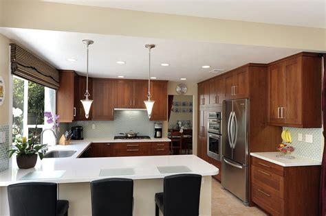 creative  shaped kitchen ideas  island