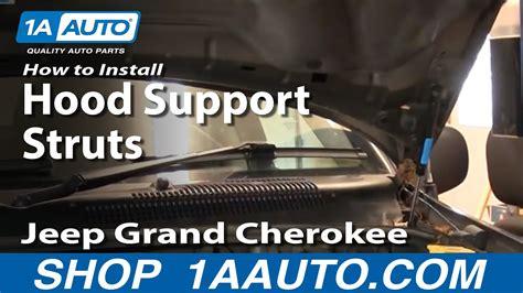 install repair replace sagging falling engine hood
