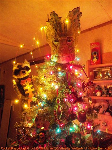 custom groot tree topper that turns an ordinary christmas