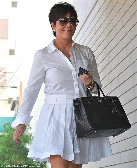 Kris Jenner White Dress