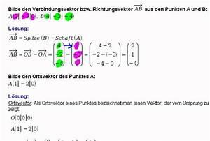 Richtungsvektor Berechnen : vektor aus zwei punkten ortsvektor youtube ~ Themetempest.com Abrechnung
