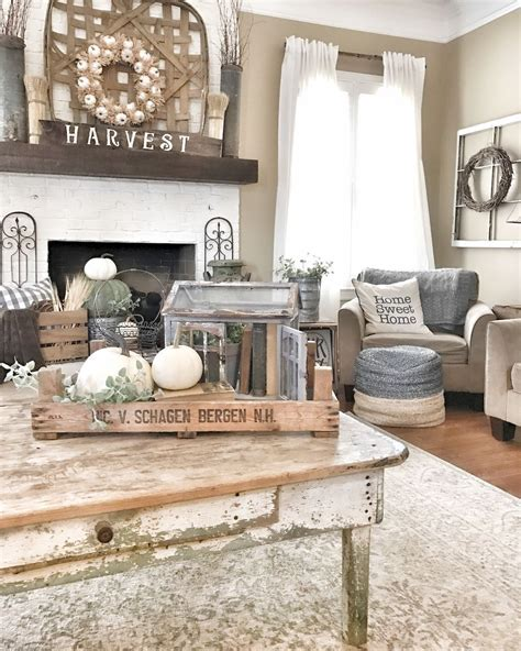 Rustic Vintage Living Room Ideas by 60 Rustic Farmhouse Living Room Design And Decor Ideas
