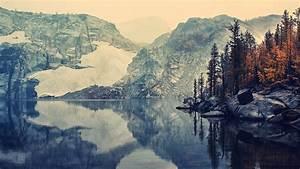 Nature, Landscape, Mountain, Fall, Lake, Wallpapers, Hd