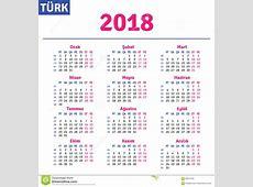 Turkish calendar 2018 stock vector Illustration of grid
