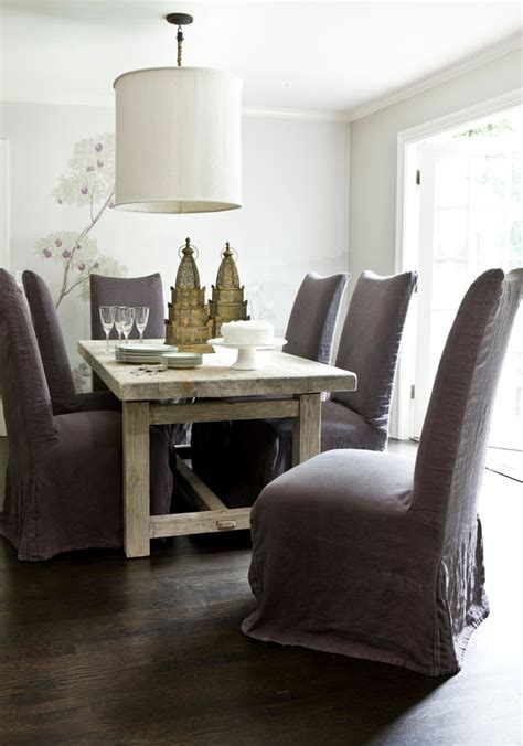 furniture remarkable large dining room interior design modern marvelous gray wingback chair slipcover decorating ideas images in living room transitional