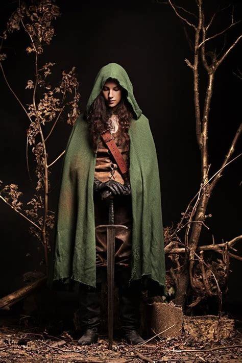 woman   wood  elf costume sewing  cut