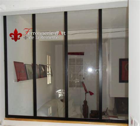 cuisine verriere interieure baie vitrée en fer forgé style atelier d 39 artiste à aix en