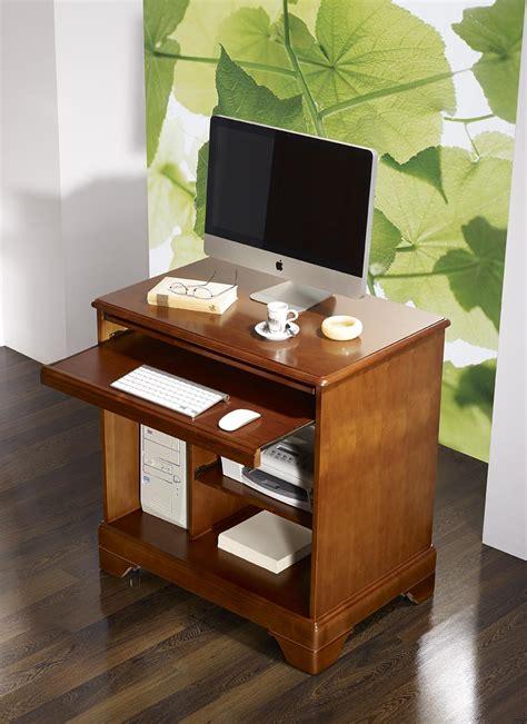 bureau merisier massif petit bureau informatique en merisier de style louis
