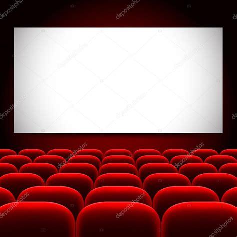 cinéma écran et sièges vector background image