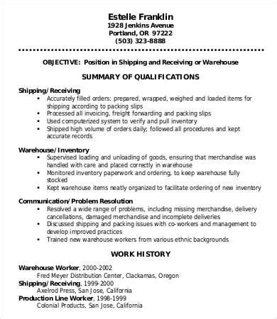 Warehouse Resume Template by Pin On Resume Templates