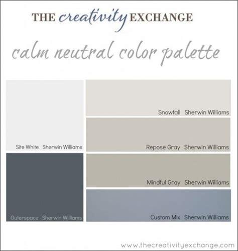 calm neutral color palette paint color palette for
