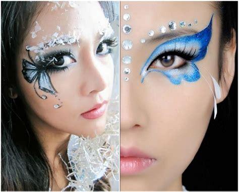vorlagen damen schmetterling schminken damen augen blau schwarz makeup fasching carnival kost 252 me in 2019