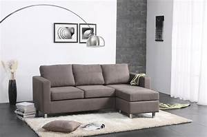 Living room leather and wood small sectional sofa bed for Sectional couch in small room