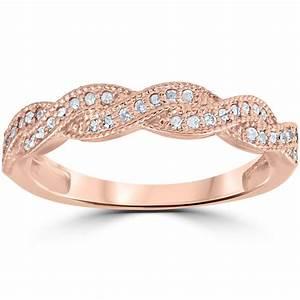 18ct Pave Diamond Wedding Ring 14K Rose Gold EBay
