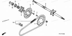 Honda Atv 2000 Oem Parts Diagram For Rear Axle    Drive Chain