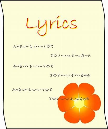 Clipart Lyrics Lyric Clip Vector Svg Poem