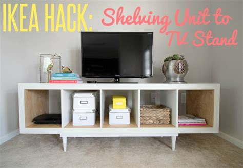 ikea hack shelving unit  tv stand infarrantly creative