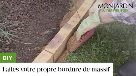 bordure jardin beton diy faites votre propre bordure de massif