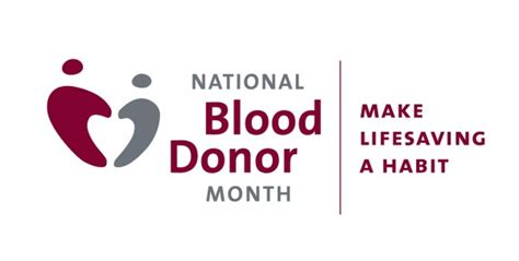 national volunteer blood donor month january