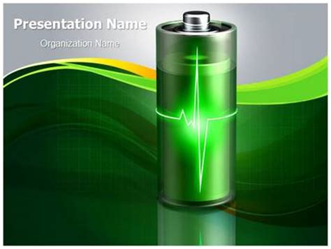 aaa battery energy powerpoint template background
