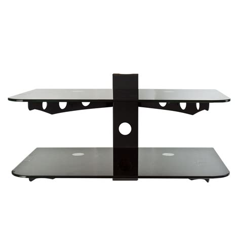 Tv Rack Wandmontage by Wall Mount Dvd Stand Lot Of 2 Shelf 2 Tier Cable