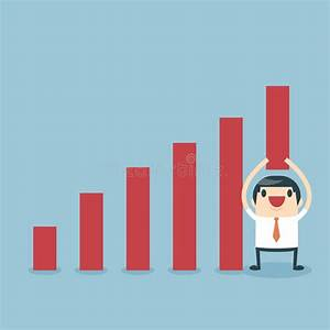 Businessman Lifting Increase Graph Stock Vector