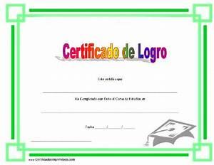 Certificado De Logro Para Imprimir Los Certificados