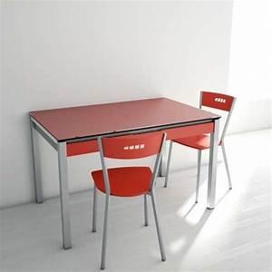 Table de cuisine en verre extensible avec tiroir camel for Deco cuisine pour table en verre extensible