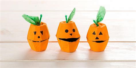 Halloween Reuse Idea Egg Carton Pumpkins Recyclenation